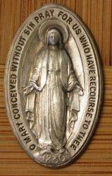Sterling Religious Medallion