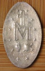 Sterling Religious Medallion (Back View)