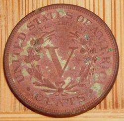 "1887 Liberty Head ""V"" Nickel (Reverse)"