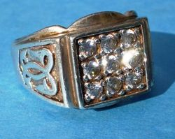 Men's Sterling Ring with Diamonds