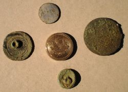Old Buttons, Large Copper and Gold!