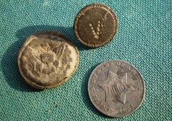 A Few Buttons and an 1851 Three Cent Piece