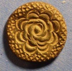 Small Button with Floral Design circa 1860s