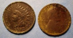 1902 Indian Head and 1918 Wheat Cent