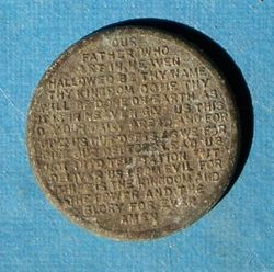 Vintage Token with The Lords Prayer