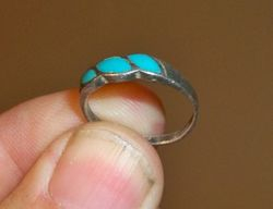Sterling Turquoise Ring From Hunted Out Site