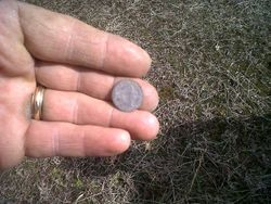 First person to handle this coin in 200 years!