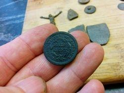 1851 Half Cent Reverse