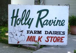 Vintage Holly Ravine Cow Tail Bar Sign