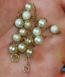 14K Necklace with Pearls VDI 3