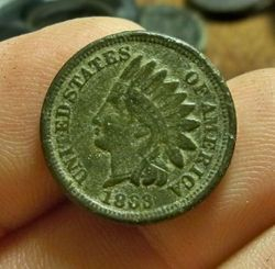 1863 Nickel-Copper Indian Head Cent