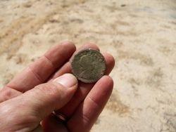 1722 King George Halfpenny freshly dug