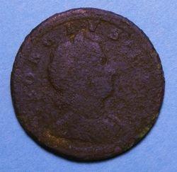 1722 King George Halfpenny