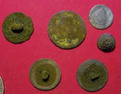 King George I Halfpenny, Half Reale and Buttons