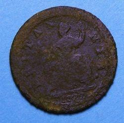 1722 King George Halfpenny Reverse