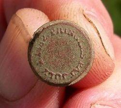 Pringles Glove Button Pat July 4, 1882