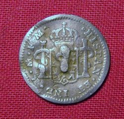 1800 Corolus IIII Half Reale with Shank