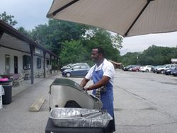 Pastor getting ready to cook