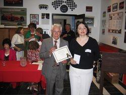 Presentation of Literary award by Professor Sbrocchi