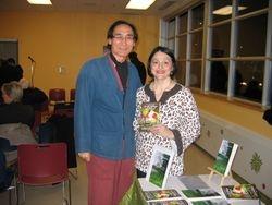 Professor Han and Maria Pia