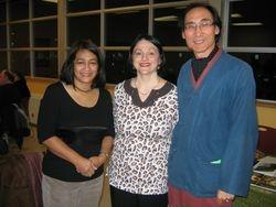 Shaheena, Maria Pia and Professor Han