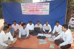 NIMA PATHARDI's Token Hunger Strike Against  Health Ministry Proposed BRMS/BRHC Course
