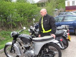 Brian forrester with his latest Triumph