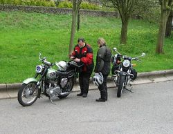 At the Notts and Derby Checkpoint