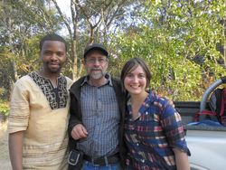 Richard Chileshe (OM Zambia) with Henk and Madeleen.