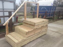 A newly built mounting block for minis - shires!!