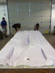 Vacuum bagging requires layers of materials