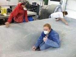 Sanding Forms at LancAir