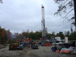Gas well in progress - Enfield, NY