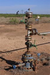 Well Head at Completed Drill Site