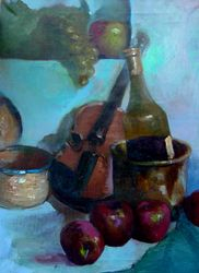 Stillife with Violin (Oil Painting