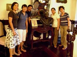 Posing with Lola Dicang's Bust