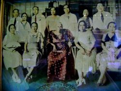 Lola Dicang, her children and in-laws