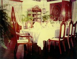 A Formal Photograph of the Dining Room