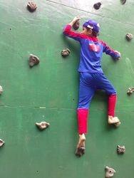 Spiderman wall climbing