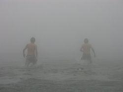 Taking a dip in Tinagong Dagat