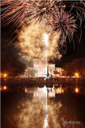 Fireworks at the Provincial Capitol