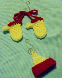 Set Mittens and Hat