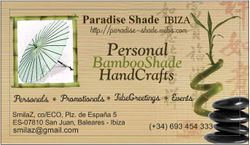 Paradise Shade IBIZA -Contact-