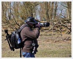 Met volle bepakking de natuur in - Foto gemaakt door foto-friend Henk Heynis