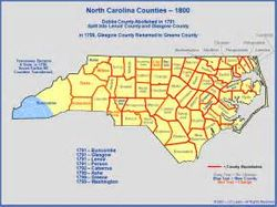 Map of NC by Counties