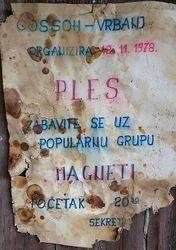 Plakat za ples 1978 g.