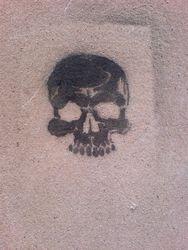 Black skull, Stafford, 2007