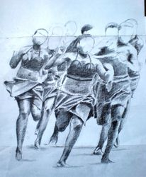 Angolan runners sketch (February 2008)