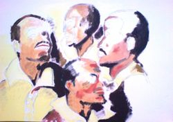 Four heads after Rubens (June 2008)