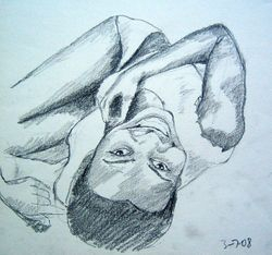 Reclining girl laughing (July 2008)